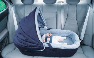 Правила перевозки новорожденного ребенка в автомобиле
