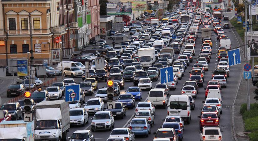 Ситуация на дорогах в СПБ
