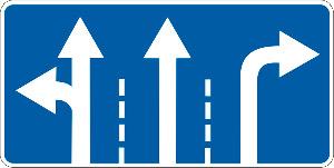 Что означает и как выглядит знак «Движение по полосам»?