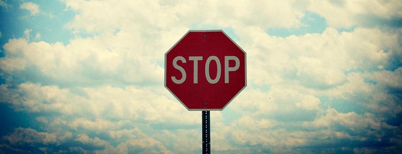 Где остановиться перед знаком СТОП?